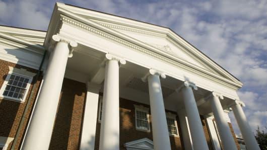 College campus columns