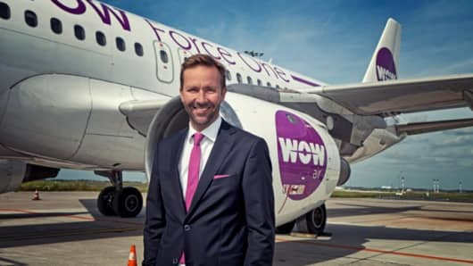 Skúli Mogensen, founder and CEO of WOW air