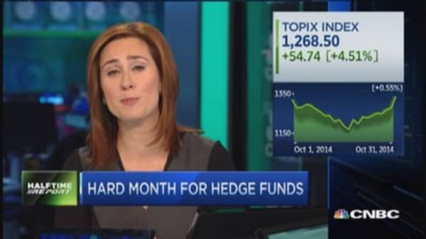 Hard month for hedge funds