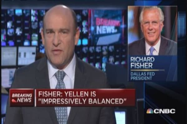 Dallas Fed's Fisher: Why I didn't dissent