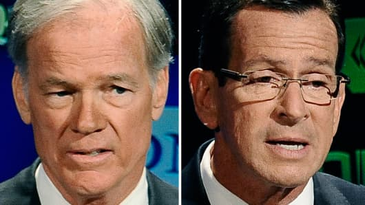 Tom Foley and Dannel Malloy face off in the Connecticut Gubernatorial race.