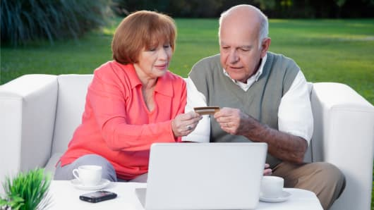 Baby boomers using credit card debt