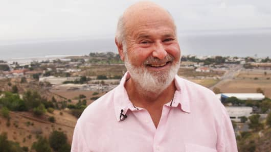 Hollywood actor and activist Rob Reiner in Malibu, Calif.