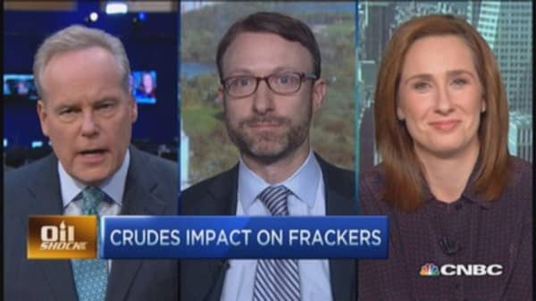 Frackers slowdown on crude concerns?