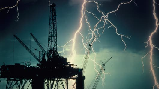 Offshore Oil and Lightening