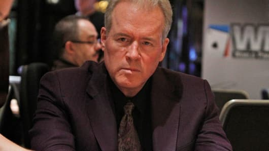 Robert Mercer playing poker in 2012.
