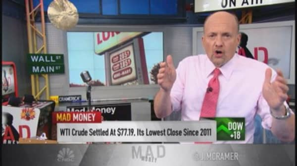Cramer: Perfect storm causing lower oil