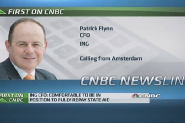 ING 'drawing a line under state support': CFO