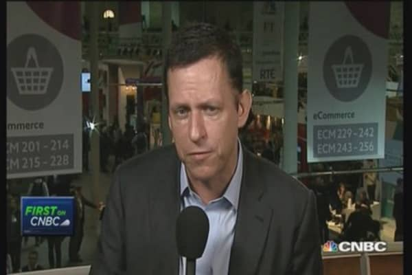 Thiel: Don't see bubble in tech