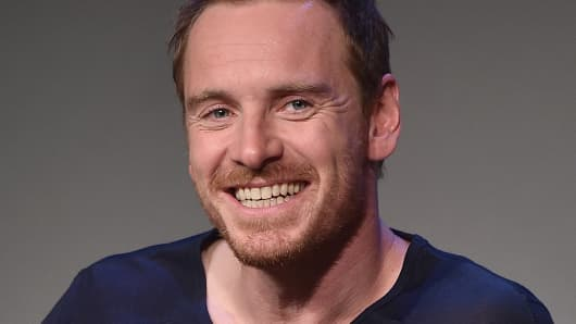 Actor Michael Fassbender attends 'Meet The Actor' at Apple Store Soho on August 7, 2014 in New York City.