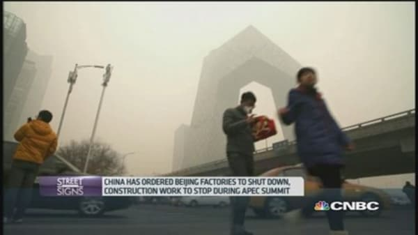 China's anti-smog moves inspire new name for APEC