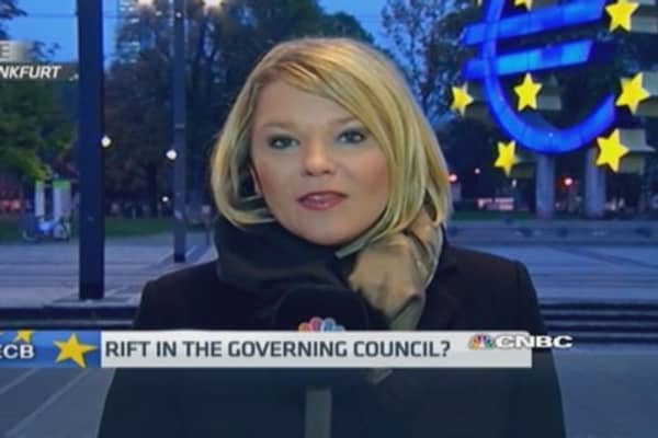 Rift in the ECB governing council?