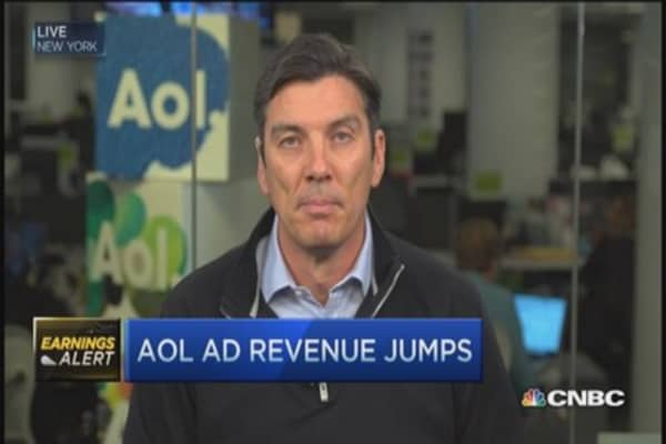AOL CEO: AOL ad revenue jumps