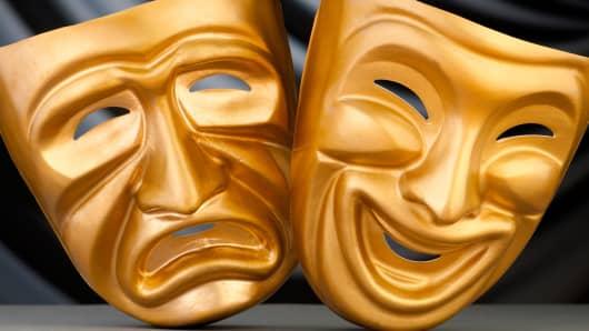 Happy sad theater masks
