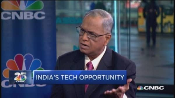 Narayana Murthy: India open for business