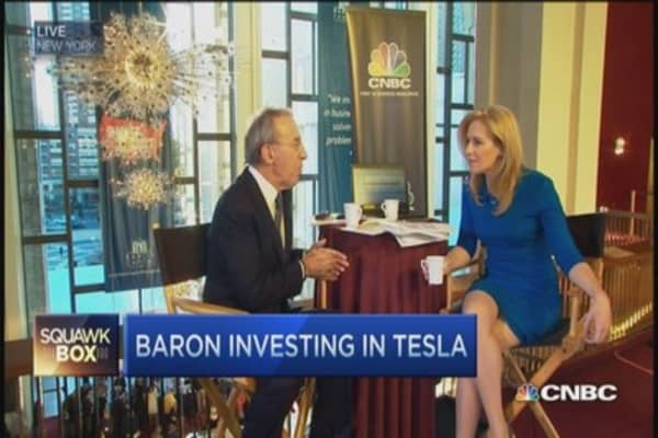 Baron's 10 times bet on Tesla