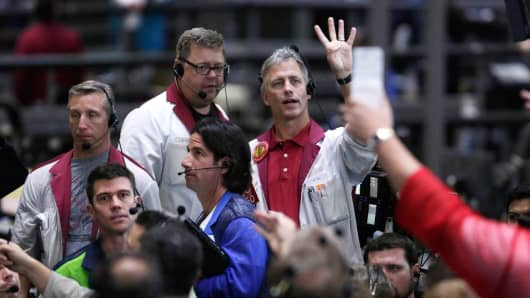 Bond traders on the floor of the CME Group in Chicago, Sept. 24, 2014.