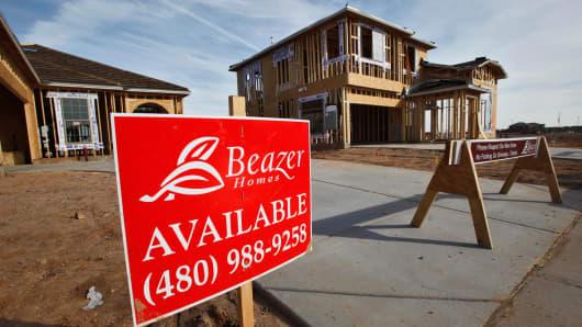 Beazer homes under construction in Gilbert, Ariz.