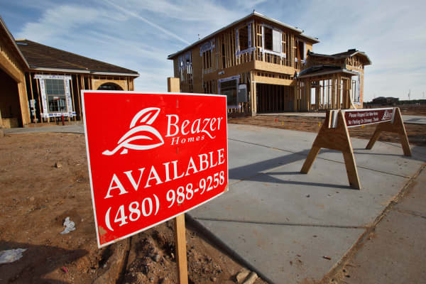 Beazer homes under construction in Gilbert, Ariz.