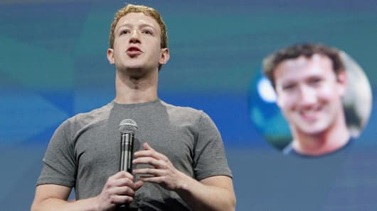Facebook CEO Mark Zuckerberg speaks during the Facebook F8 Developers Conference in San Francisco.