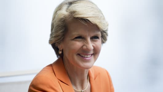 Julie Bishop, Australia's Minister of Foreign Affairs