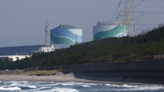 The Sendai nuclear power plant in Satsumasendai, Kagoshima Prefecture.