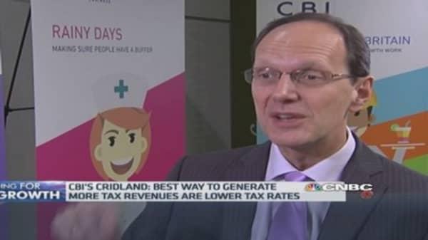 UK needs to cut taxes: CBI chief