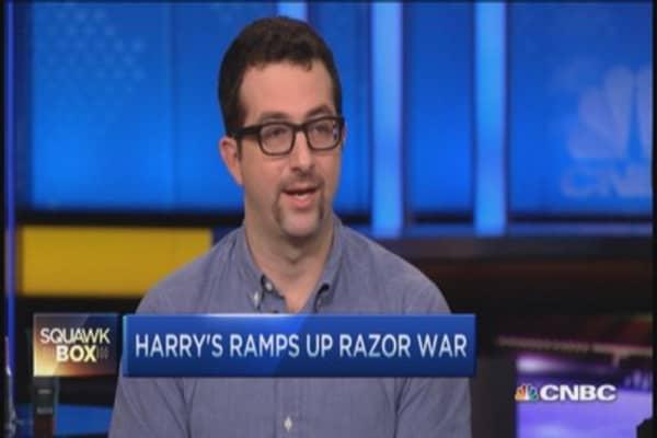 Harry's ramps up shaving war