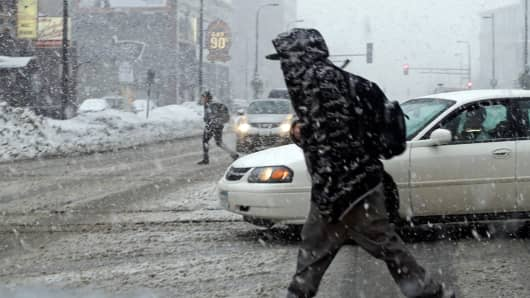 File photo: A winter snowstorm in Minneapolis in 2013.