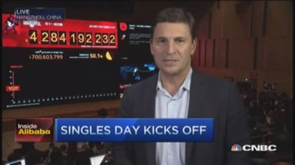 'Singles' Day': $618 million & counting