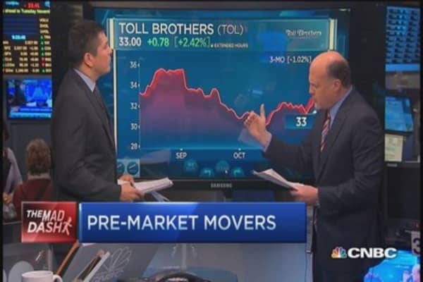 Enter rally with homebuilders, says Cramer