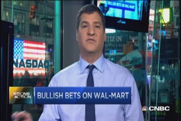 Options Action: Blowout earnings for WMT?