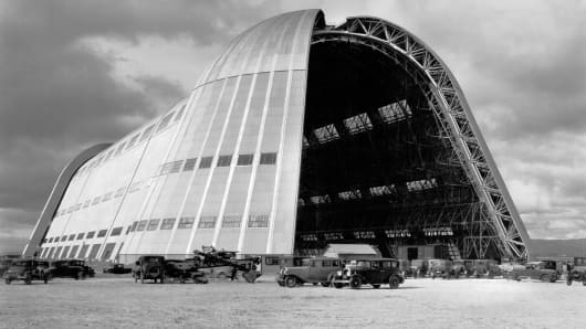 Hangar One at Moffett Field in the mid-1930s