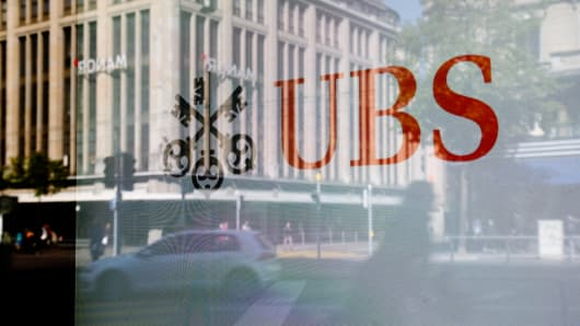 A UBS bank branch in Zurich, Switzerland