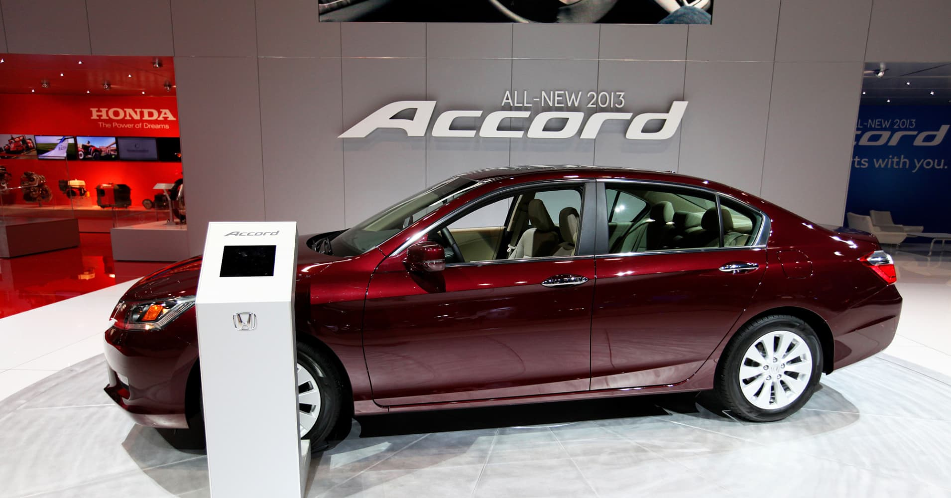 The 2013 Honda Accord, at the Chicago Auto Show, February, 2013.