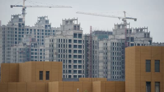 Construction in the inner Mongolian city of Ordos.