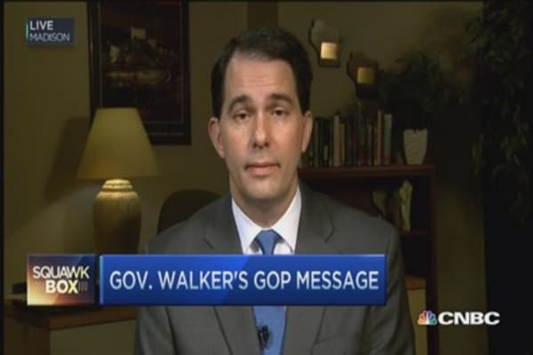 Gov. Walker's GOP message