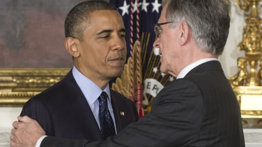 President Barack Obama and FCC Chairman Tom Wheeler
