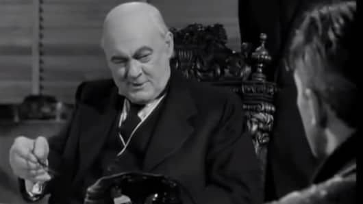 Mr. Potter, whose ethics allowed for keeping Uncle Billy's misplaced money in 'It's a Wonderful Life.'
