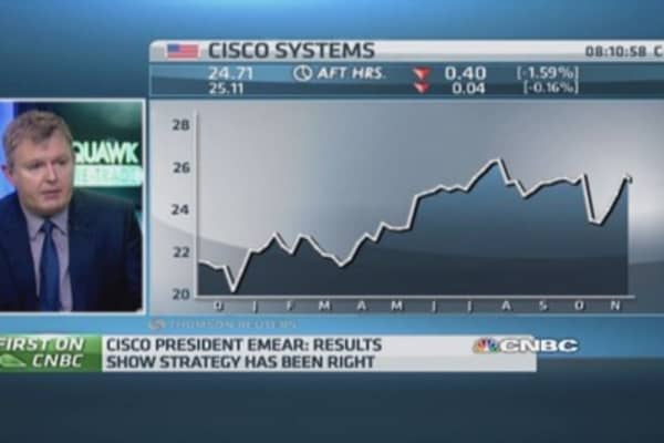 Cisco results show strategy is right: Exec