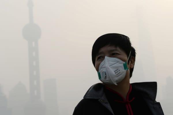 Air pollution China, smog china