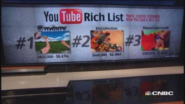 Top 3 moneymakers on YouTube