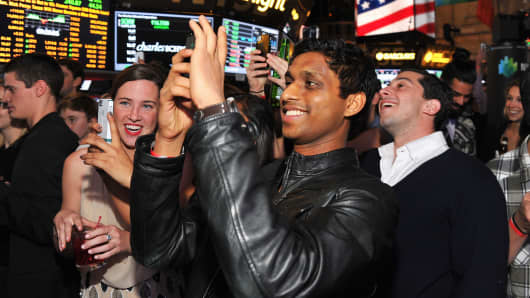 Ankur Jain of the Kairos Society at the New York Stock Exchange