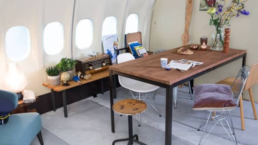 KLM airplane apartment interior