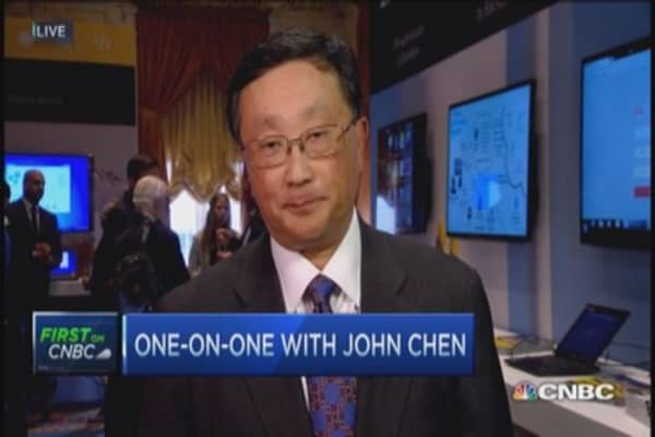 BlackBerry CEO: Not worried about competing