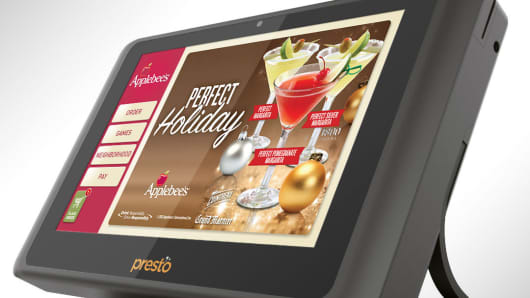 The Presto restaurant tablet.