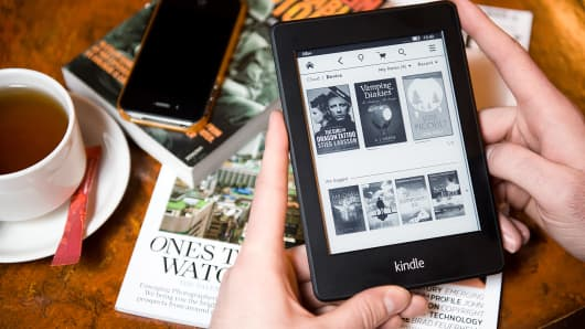 The Amazon Kindle Paperwhite e-reader.