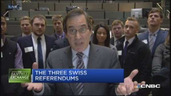 Santelli Exchange: Swiss referendum