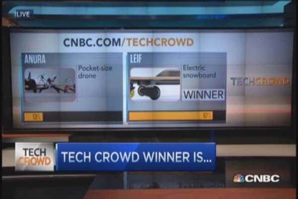 Tech Crowd winner: LEIF's electric snowboard