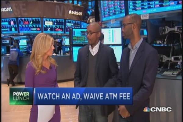 Watch an ad, waive ATM fee